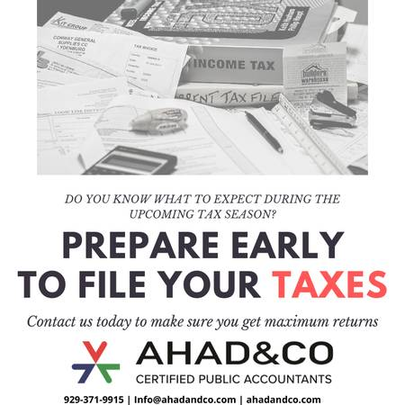 Prepare Early to File Your Taxes