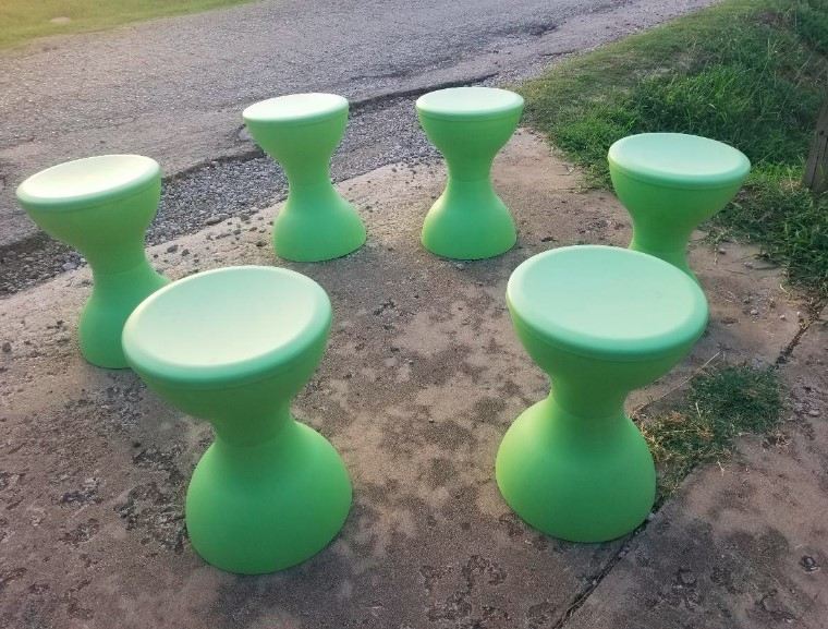 Stools Plastic Green Essentials 6
