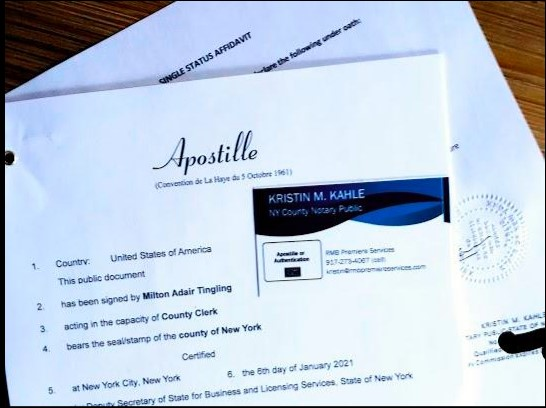 SINGLE STATUS AFFIDAVIT APOSTILLE SERVICES: Express, Rush & Standard Available